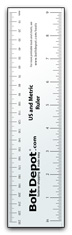 US and Metric Ruler