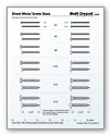 Pilot Hole and Countersink wood screw chart. (With images ... |Metal Screws Chart