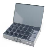 21 compartment large metal tray