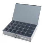 24 compartment large metal tray