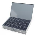 32 compartment large metal tray