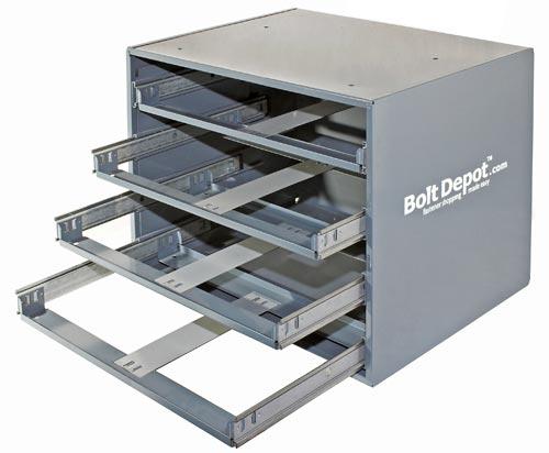 Large Metal Trays 4 Drawer Metal Slide Rack Stackable