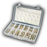 Small plastic compartment box fastener assortment