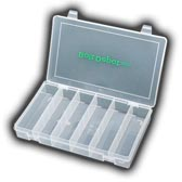 6 Compartment plastic box