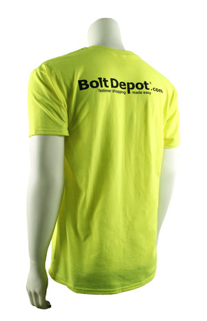 T-shirt safety green back