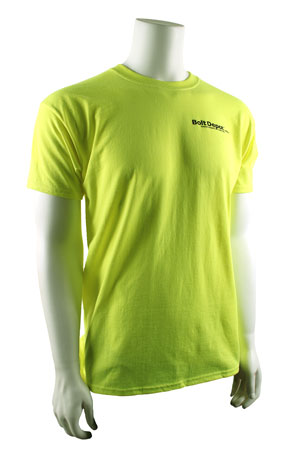 T-shirt safety green front
