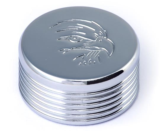 Chrome bolt cover with eagle